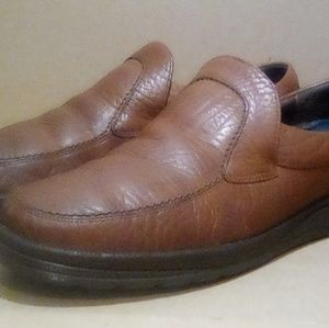 Brown Leather Mephisto 'Orso' Slip-On Loafers